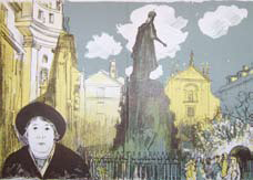 Prague lithograph